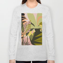 A Flower Blooms Best in a Happy Pot #painting #illustration Long Sleeve T-shirt