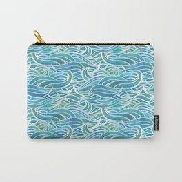 Watercolor waves Carry-All Pouch