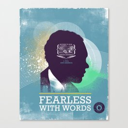 FEARLESS: With Words - L. Hughes Canvas Print