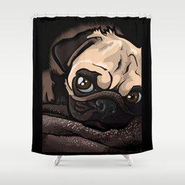 Baby Pug Dog Shower Curtain