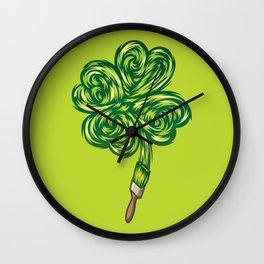 Clover - Make own luck Wall Clock