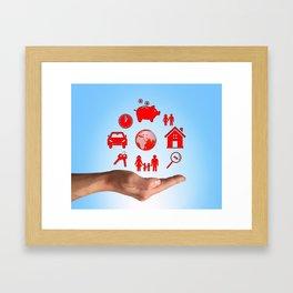 Life values Framed Art Print
