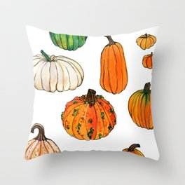 It's the great... pumpkins! Throw Pillow