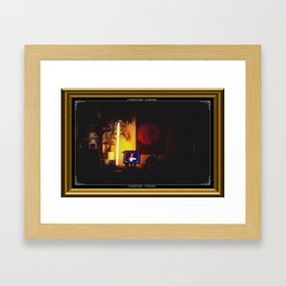 COMPUTER CORNER. Framed Art Print