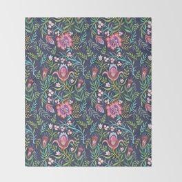 Folktale Pattern Throw Blanket