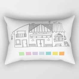 Biblioteca y pantone Rectangular Pillow
