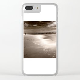 Walking the Beach Clear iPhone Case