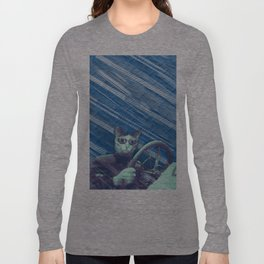 Driver cat Long Sleeve T-shirt