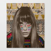 jane davenport Canvas Prints featuring JANE by Kris Tate
