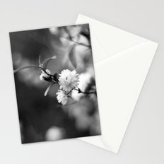 Flowering Almond in Black and White Stationery Cards