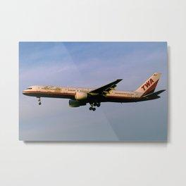 Trans World Airlines (TWA) Boeing 757-200 Metal Print