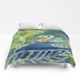 Monoprint Flower 2 Comforters
