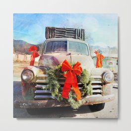 Christmas In Taos, New Mexico Metal Print