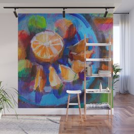 Still LIfe with Oranges and Limes Wall Mural