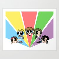 cyrilliart Art Prints featuring Powerpuff!Direction by Cyrilliart
