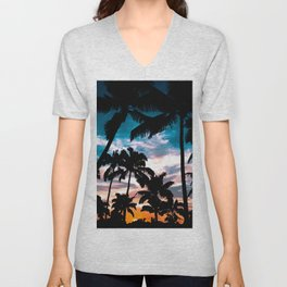Palm trees dream Unisex V-Neck