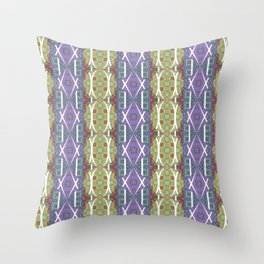 Ancient Artistic Styles Reimagined Throw Pillow
