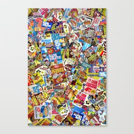 Cereal Boxes Collage Canvas Print