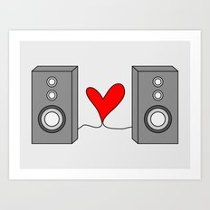 Music is all you need. Art Print