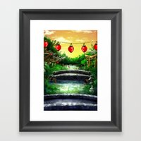 A Bridge Over Placid Waters Framed Art Print