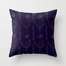 Purple Weeds Throw Pillow