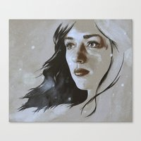 allison argent Canvas Prints featuring Teen Wolf: Allison Argent by Llama Escapes