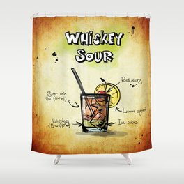 Whiskey Sour Shower Curtain