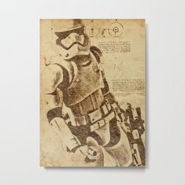 stormtrooper starwars - da Vinci edition Metal Print