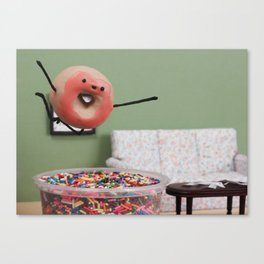 Party Like a Donut Canvas Print