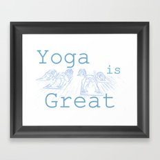 Yoga Is Great : Blues Take Two Framed Art Print