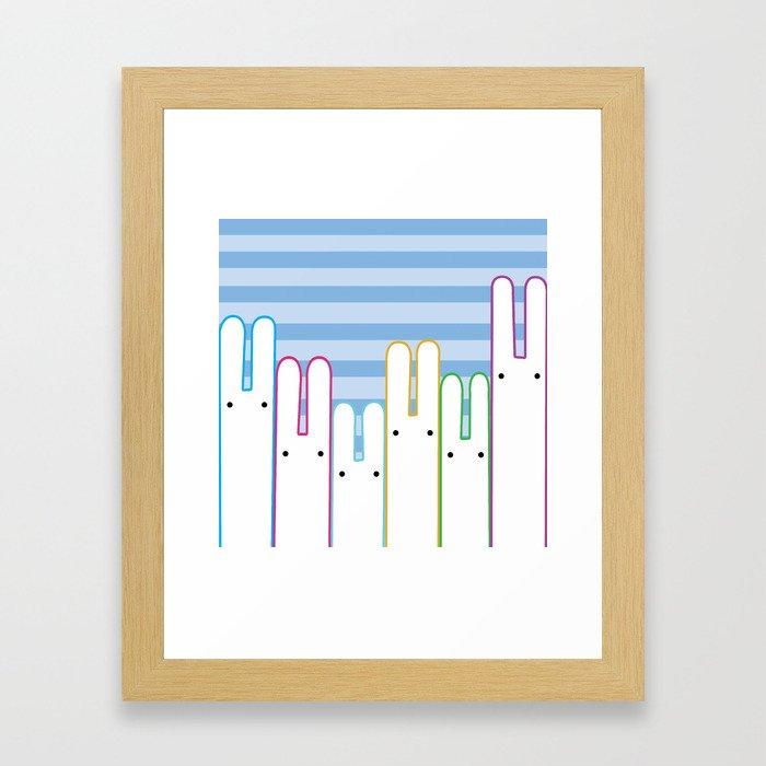 Bunny Buddies Framed Art Print