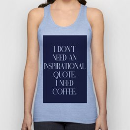 Funny coffee text Unisex Tank Top