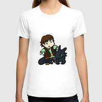 hiccup T-shirts featuring Chibi Hiccup and Toothless by Gio Garcia