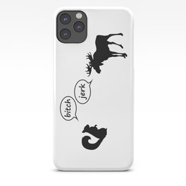 bitch, jerk iPhone Case
