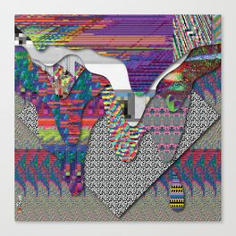 drippy internet Canvas Print