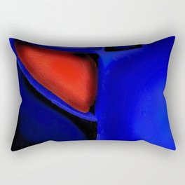 Abstraction in Lapis and Red Rectangular Pillow