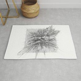 BIG BANG -Abstract Space- Black and White Rug