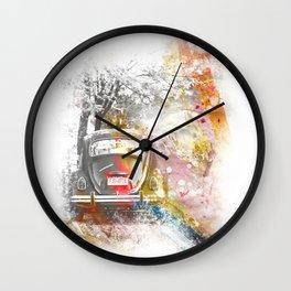 Vintage Colors Wall Clock