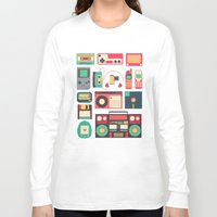technology Long Sleeve T-shirts featuring Retro Technology 1.0 by Ralph Cifra
