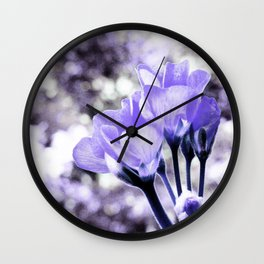 Periwinkle Flowers Wall Clock