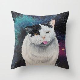 Space Buddha Throw Pillow