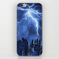 lightning iPhone & iPod Skins featuring Lightning by Svetlana Sewell