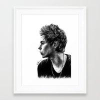 luke hemmings Framed Art Prints featuring Luke  by Luna Perri