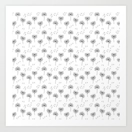 Dandelions in Black Art Print