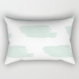 Mint & White Big Watercolor Stripes Rectangular Pillow