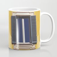 italian Mugs featuring Italian Windows  by Forgotten Charm