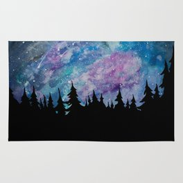 Galaxies and Trees Rug