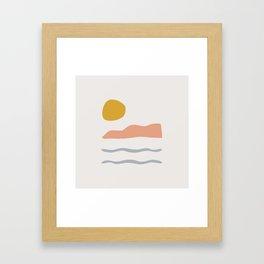 island Framed Art Print