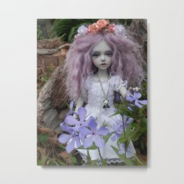 Butterfly Garden Fairy (bjd doll) Metal Print
