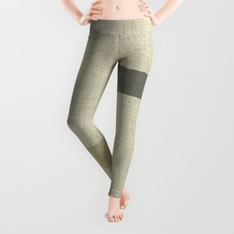 """Burlap Texture Natural Shades"" Leggings"